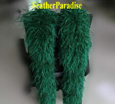 12 ply White Ostrich Feather Trims Boa 2 Yard  (USA)