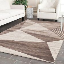 Modern Area Rug Beige Stylish Designer Large New Rugs Abstract Interior Carpets