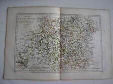 CARTE de la WESTPHALIE par BONNE carte ancienne 1787 cologne munster limburg  43