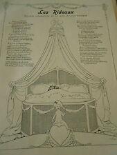 Les Rideaux saynète cosmopolite en un acte Print Art Déco 1908