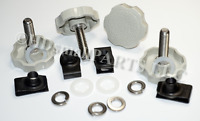 Black 96/'-13/' LocEzy® for H-D Saddlebag Mounting Hardware Knobs Theft Deterrent