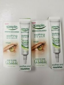 2 Simple Sensitive Skin Experts SOOTHING EYE BALM Soothe & Nourishes 0.5 fl oz.