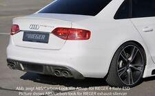 Rieger Heckeinsatz für original Doppelendrohr links/ rechts für Audi A4/ S4 B8