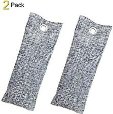 Air Purifying Bag 2 Pack 75g Activate Natural Bamboo Charcoal Odor Absorber