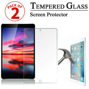 2 Pack Tempered Glass Screen Protector New For Apple iPad 5th&6th Gen Air1& Air2