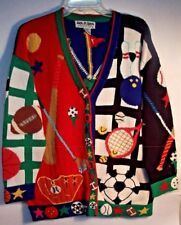 Jack B Quick Cardigan Sweater Sports Baseball Soccer Golf Soccer Size Medium