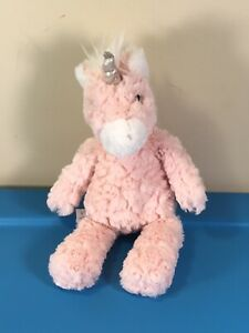 "Mary Meyer Pink and White Unicorn Plush 13"""