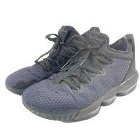 Nike Air Lebron XVI (16) Low TRIPLE BLACK Basketball Shoes Size 10 CI2668-002