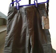 NWT BOYS  PANTS FLAPDOODLES  S 8 Green Cargo Pockets Button Fly $32+
