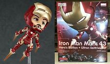 Nendoroid 543 Iron Man Mark 43 Hero's Edition & Ultron Sentries Set Licensed New