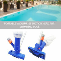 Swimming Pool & Spa Pond Fountain Vacuum Brush Cleaner Cleaning Tool Portable ~