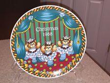 1988 Lucy & Me Christmas Plate Teddy Bear Japan