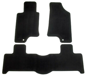 2006-2010 Hummer H3 + H3T Set of Front and Rear Ebony Black Carpet Floor Mats