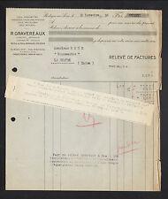 """BOULOGNE-sur-SEINE (92) COLS & MANCHETTES de CHEMISE ,CHEMISERIE """"R. GRAVEREAUX"""""""