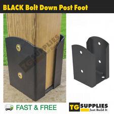 Heavy Duty Galvanised BLACK Bolt Down POST SUPPORT Pergola Foot Bracket Base