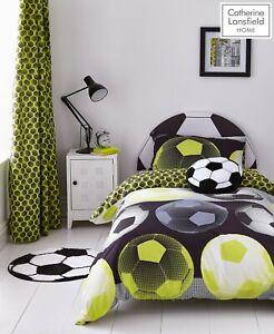 Catherine Lansfield Girl/Boy Neon Football Duvet Cover Bedding Set Range Yellow