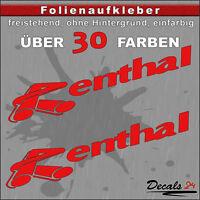2er SET - RENTHAL Sponsoren-Folienaufkleber Auto/Motorrad - 30 Farben - 24cm