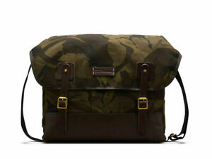 Dr. Martens UNISEX MADE IN ENGLAND CAMO SATCHELL, DARK TAN+OLIVE