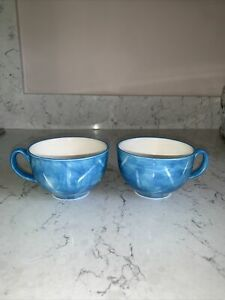 Whittard of Chelsea Clipper cups x 2 In Teal Blue