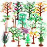 20pcs Plastic Tree Plant Model Used For Sand Table Game pad Scene City Map Props