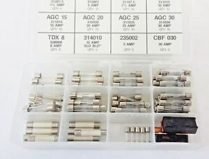 107 Glass AGC Buss Fuses Kit Assortment Mopar 3 7.5 10 15 20 25 30 Amps