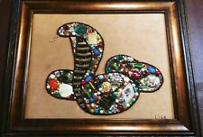 Vintage and Contemporary Jewelry Art framed Snake Boa