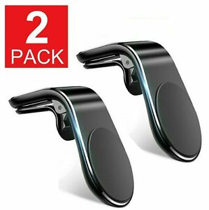 2 Magnetic Car Mount Car Phone Holder Stand Air Vent For iPhone Android Samsung