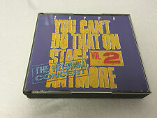 Frank Zappa You Can't Do That Vol. 2 2 CD MINT/EX FATBOX 1988 5016583600921 ZAP9