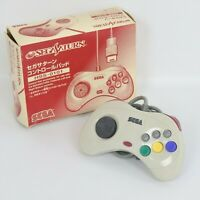 Sega Saturn White Controller Pad HSS-0101 Boxed Working Tested 0745