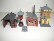 SMALL TRACKSIDE SUPPORT STRUCTURES AND A CANNON! - ESTATE LOT- CLEAND & REGLUED