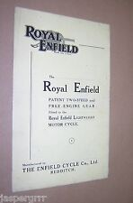 c1950. ROYAL ENFIELD 2 SPEED FREE-ENGINE GEAR. LIGHTWEIGHT MOTOR CYCLE. LEAFLET
