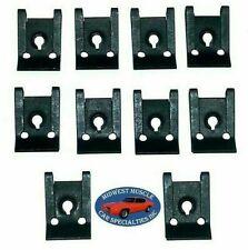 Ford Lincoln Mercury Factory Correct #8 Screw Bolt U Clips J Nut Nuts 10pcs R
