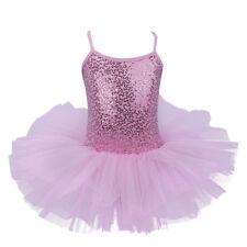 Girls Tutu Ballet Dance Dress Leotard Ballerina Skating Costumes Kid Fancy Dress