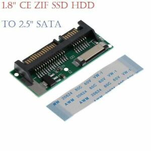 """1.8"""" LIF ZIF CE SSD HDD to 7+15 Pin SATA Adapter Converter Cable Lead UK A++"""