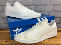 ADIDAS ORIGINALS MENS UK 9 EU 43 1/3 STAN SMITH WHITE PRIMEKNIT TRAINERS LG