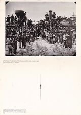 DRIVING OF THE GOLDEN SPIKE UTAH 10 MAY 1869 REPRODUCTION UNUSED POSTCARD
