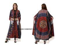 Women's Mandala Loose Blouse Summer Boho Cotton Coat Shawl Kimono Cardigan Tops