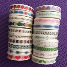 Washi Tape Lot Of 20 slim skinny whole roll Set Washitapes For Planner NEW