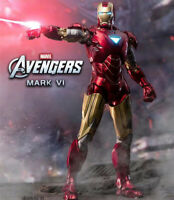 In Stock ZD Toys Iron Man 2 MK6 Mark VI Action Figure Toy Marvel Collection 7''