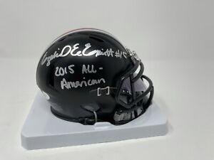 Ezekiel Elliott Signed Ohio State Mini Football Helmet 2015 AA Black Out JSA
