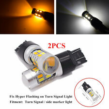 2x7443 20 SMD 5730 LED Car White/Amber Turn Brake Signal Lamps Side Marker Light