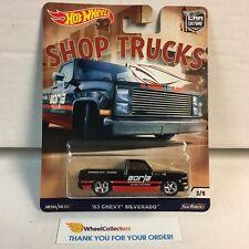 '83 Chevy Silverado * 2018 Hot Wheels SHOP TRUCKS Car Culture D Case