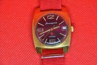 Vintage Zakaz MO USSR VOSTOK Komandirskie military wrist watch hack second 2234
