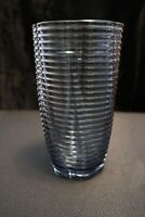 Murano Italian Art Glass - CLEAR BLUE VASE - Spiral with Curves **WOW**