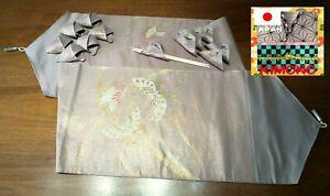 KIMONO Silk Table Runner, Napkin Rings, Chopsticks Holder:テーブルランナー 帯 絹100%