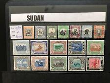 More details for sudan gvi sg123-139, complete set, mounted mint.cat £100.