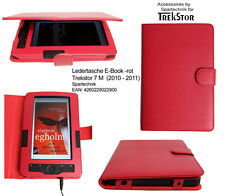 Tasche für Trekstor 7 M 7M 7 (M) E-Book Reader Ledertasche* EBook Case rot red