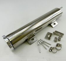 "2"" X 10"" Polished Stainless Steel Radiator Coolant Overflow Puke Tank 14OZ"