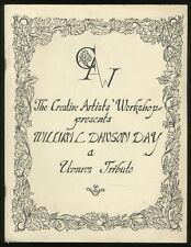 James G SPADY / William L Dawson Umum Tribute and Marvelous Journey 1st ed 1981