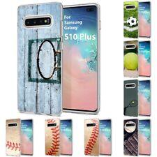 Thin Gel Design Phone Case Cover for Samsung Galaxy S10 Plus,Basketball Print